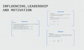 INFLUENCING, LEADERSHIP AND MOTIVATION