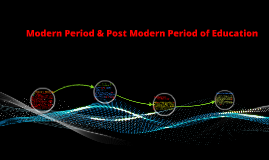 Copy of Modern & Post Modern Period of Education