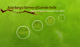 Atterberg's Survey of Laredo Soils
