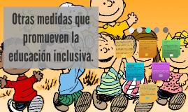 Otras medidas que promueven la educación inclusiva.