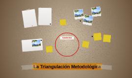 La Triangulación Metodológica
