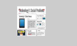 Technology's Social Problems