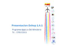 Presentacion Dshop - 2013 - Programa Apps.co