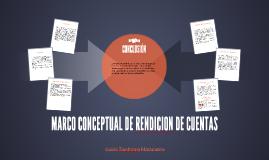 MARCO CONCEPTUAL DE RENDICION DE CUENTAS