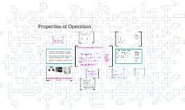 Properties of Operation