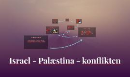 Israel - Palæstina - krisen