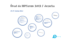Úvod / ISPforum 2012 Jezerka
