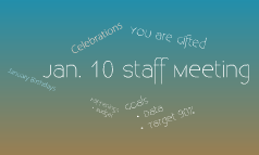 Jan. 10 Staff Meeting