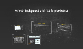 Xerxes: Background and rise to prominence