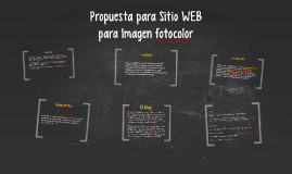 Copy of Propuesta para Sitio WEB