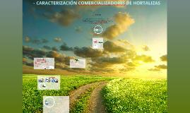 CARACTERIZACIÓN COMERCIALIZADORES DE HORTALIZAS PROYECTO LOS