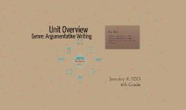 Copy of Genre: Argumentative Writing