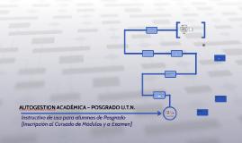 AUTOGESTION ACADÉMICA – POSGRADO U.T.N.