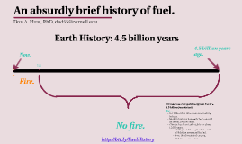 An Absurdly Brief History of Fuel