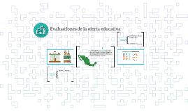Evaluaciones de la oferta educativa
