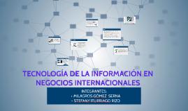 TECNOLOGÍA DE LA INFORMACIÓN EN NEGOCIOS INTERNACIONALES