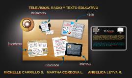 TELEVISION, RADIO Y TEXTO EDUCATIVO