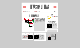 Copy of INVASIÓN DE IRAK