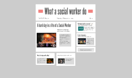 What a social worker do