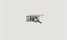 How to detect a counterfeit bill