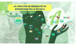 Copy of Copy of LA CREACIÓN DE AMBIENTES DE APRENDIZAJE E N LA ESCUELA
