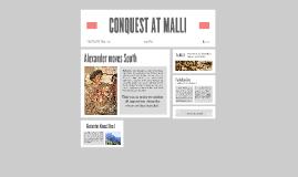 CONQUEST at MALLI