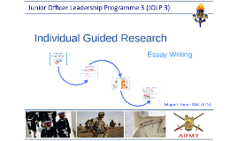 Individual Guided Research