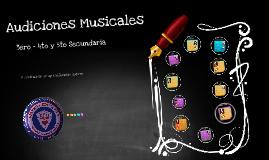 Audiciones Musicales 3ro - 4to y 5to Sec.