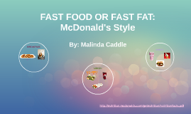 FAST FOOD OR FAST FAT: