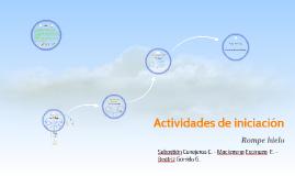 Actividades de iniciación