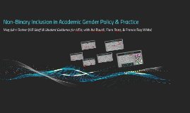 Non-Binary Inclusion in HE Trans/Gender Policy & Practice