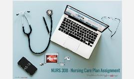 NURS 308 - Nursing Care Plan Assignment