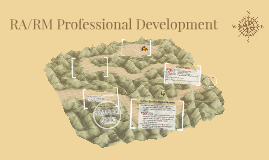 RA/RM Professional Development