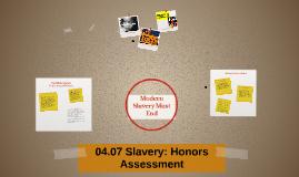 Assessment 04.07H Slavery
