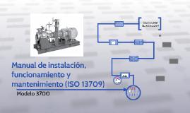 Manual de instalación, funcionamiento y mantenimiento