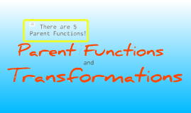 Copy of Parent Functions and Transformations