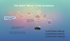 Mercy in the Scriptures