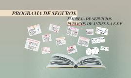 PROGRAMA DE SEGUROS