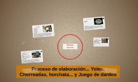 Proceso de elaboración... Yoles, Chorreadas, horchata