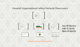 Omantel: Organizational Culture Hofstede Dimension's