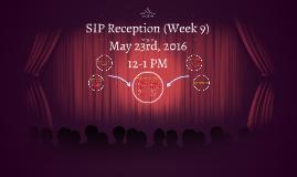 SIP Meeting (Week 9)