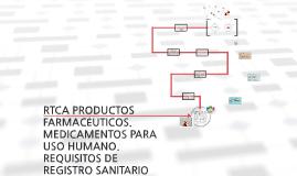 Copy of Copy of RTCA PRODUCTOS FARMACÉUTICOS. MEDICAMENTOS PARA USO HUMANO.