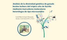 Copy of Análisis de la diversidad genética de ganado bovino lechero del trópico alto de Nariño mediante marcadores moleculares