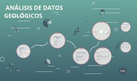 ANÁLISIS DE DATOS GEOLÓGICOS