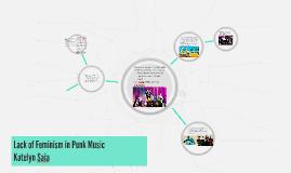 Lack of Feminism in Punk Music