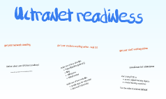 ultranet readiness