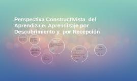 Perspectiva Constructivista  del  Aprendizaje: Aprendizaje p