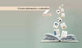El texto informativo o expositivo