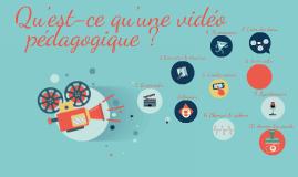 Conférence - Qu'est-ce qu'une vidéo pédaogogique ?