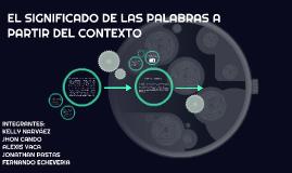SIGNIFICADO DE LAS PALABRAS A PARTIR DEL CONTEXTO